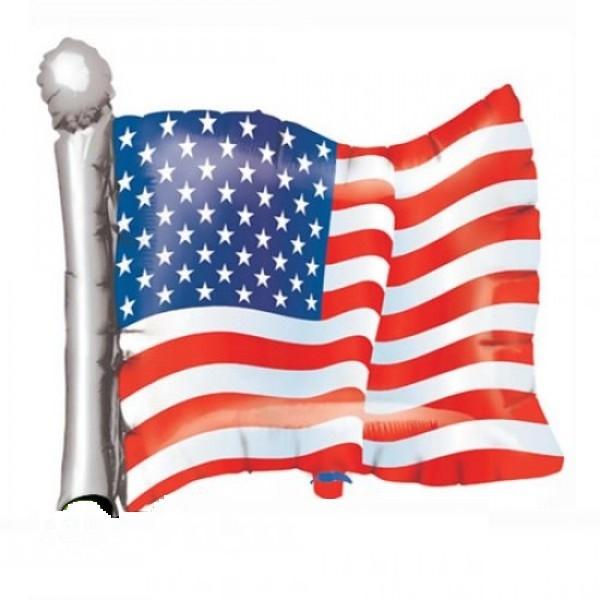 USA Flagge - Fahne Folienballon - 81cm