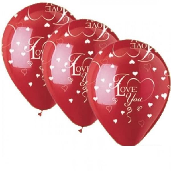 "Qualatex I love you in rot II 27,5cm 11"" Latex Luftballon"