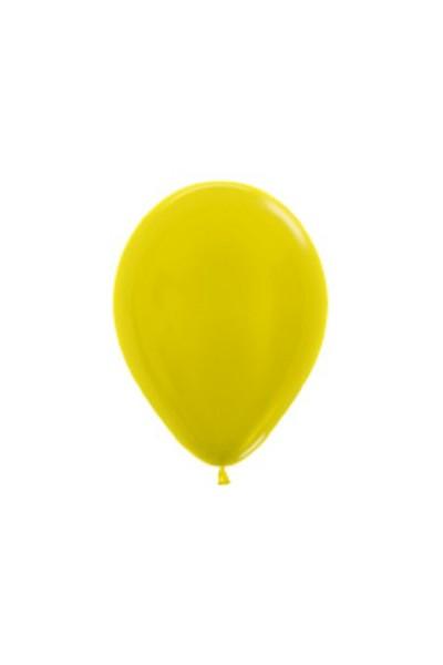 "Sempertex 520 Metallic Yellow (Gelb) 12,5cm 5"" Latex Luftballons"
