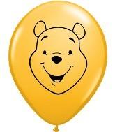 """Qualatex Winnie the Pooh Gesicht 12,5cm 5"""" Latex Luftballon"""