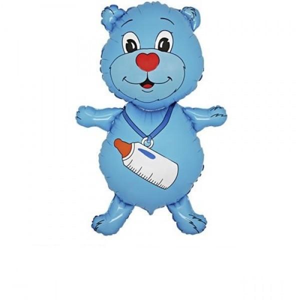 Mini Bär Ballon Junge - 35cm
