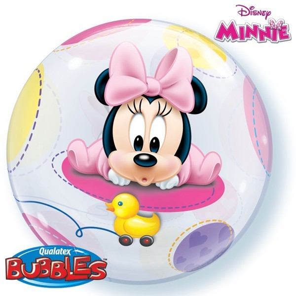 Qualatex Luftballons Bubbles Minnie Maus Baby - 55cm