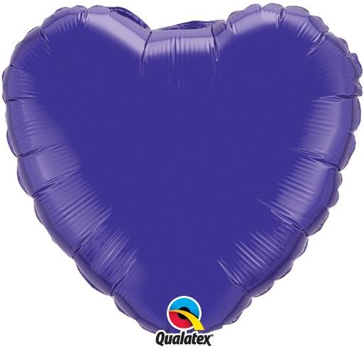 Folienballon Herz Quartz Purple - 45cm
