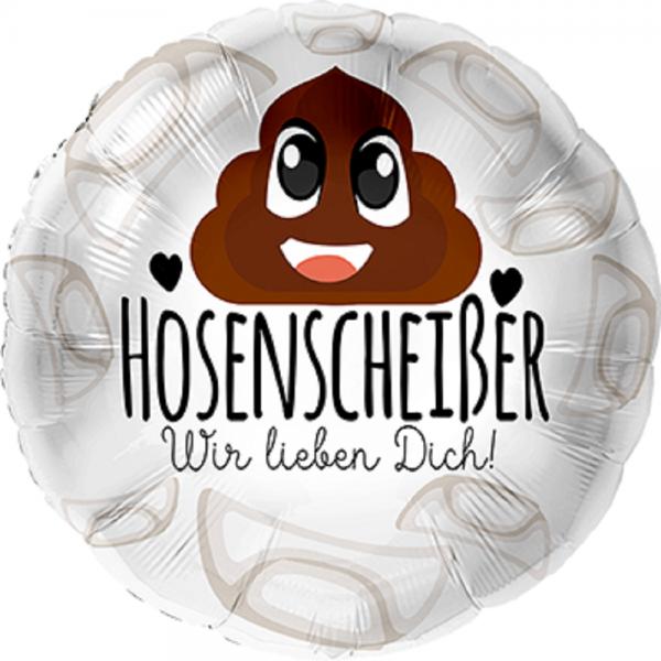 """Hosenscheißer Wir lieben Dich! Folienballon 43cm 17"""""""