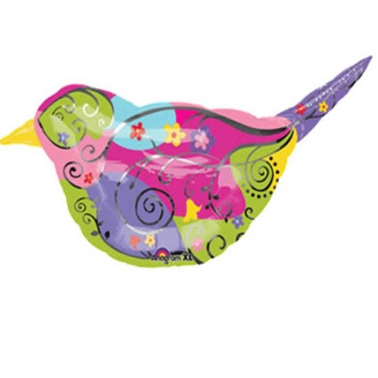 bunter Vogel Folienballon - 99cm
