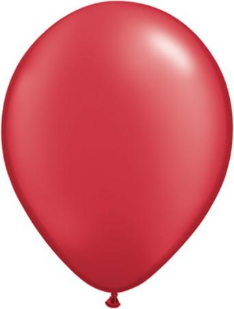"Qualatex Pearl Ruby Red (Rot) 27,5cm 11"" Latex Luftballons"