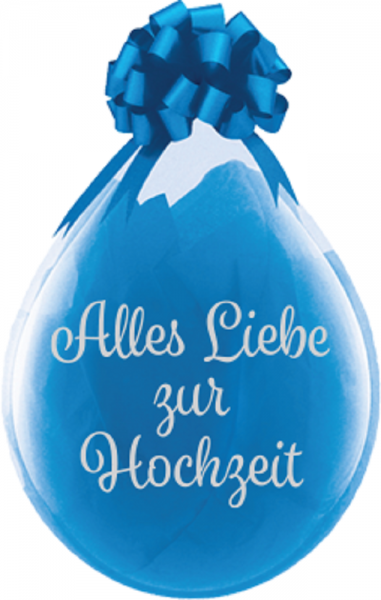 "Verpackungsballons Alles Liebe zu Hochzeit 45cm 18"" Qualatex Stuffer"