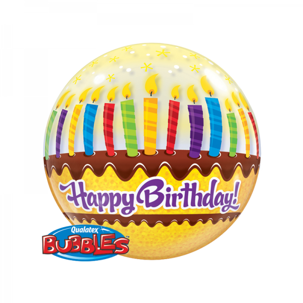 """Qualatex Bubble Candles and Frosting 22"""" 56cm Luftballon"""