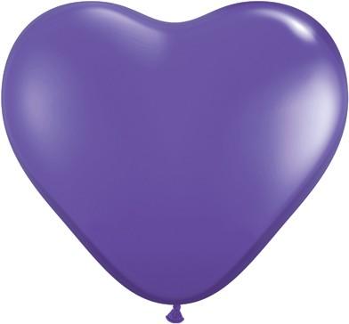 BallonHerz klein Lila (Fashion purple violet) Latexluftballons - 15cm