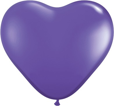 "Qualatex Herz Fashion Purple Violet (Lila) 15cm 6"" Latex Luftballons"