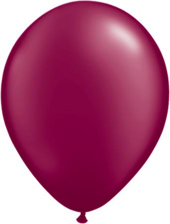 Latex Luftballons Pearl Burgundy (Burgunderrot) 10St. - 27,5 cm