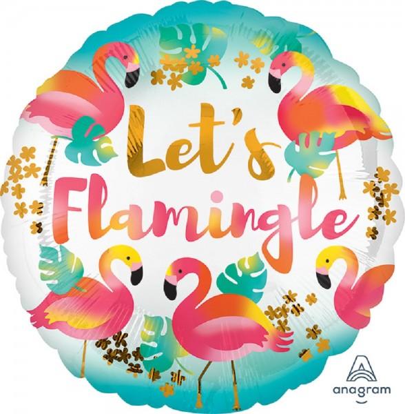 "Let`s Flamingle Folienballon 45cm 18"""