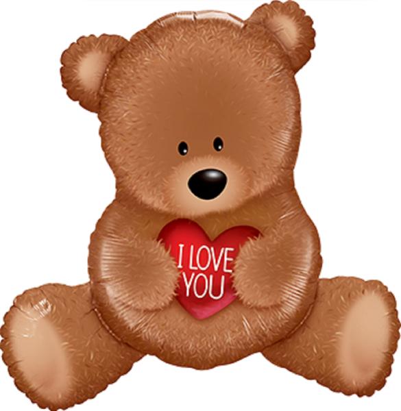 I LOVE YOU Teddy Bär Folienballon - 89cm 35''