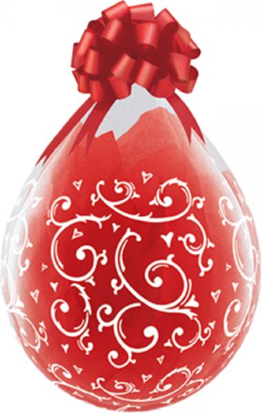 "Verpackungsballons Filigree und Hearts 45cm 18"" Qualatex Stuffer"