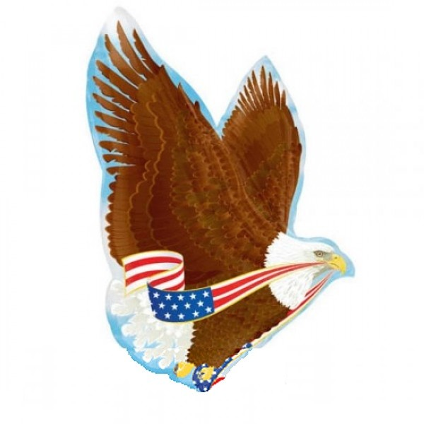USA Patriotic Adler Folienballon - 78cm