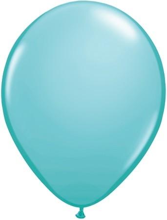 "Qualatex Fashion Caribbean Blue Karibikblau 27,5cm 11"" Latex Luftballons"