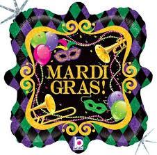 Karnevals Party (Mardi Gras Party) Folienballon - 45cm