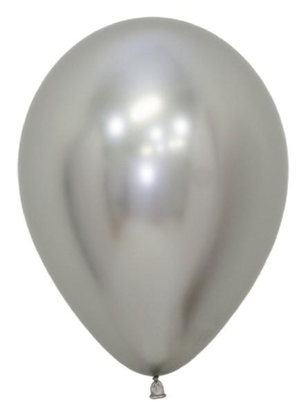 "Sempertex 981 Reflex Silver (Silber) 30cm 12"" Latex Luftballons"