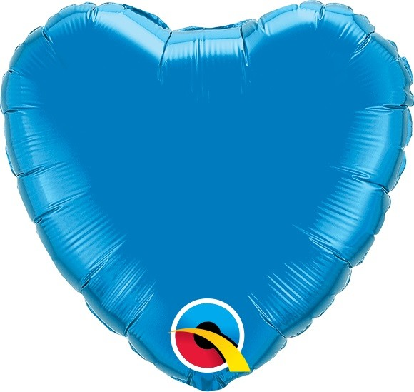 Mini Folienballon Herz dunkelblau - 23cm