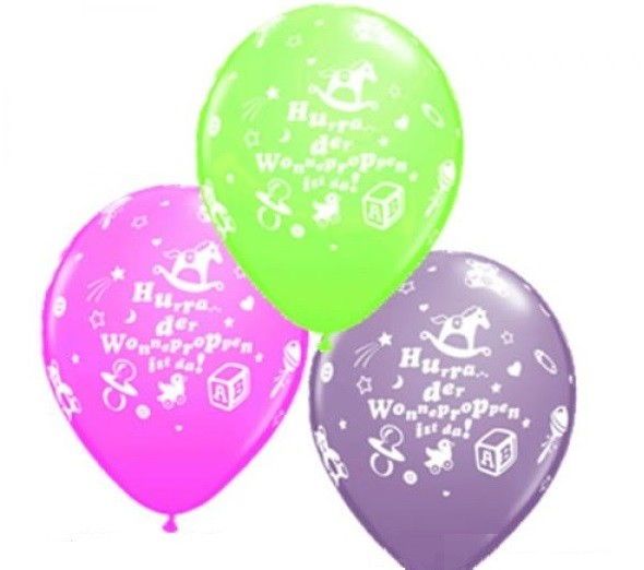 Hurra der Wonneproppen ist da Luftballons - 27,5cm