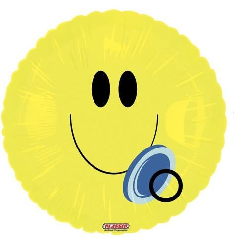 Smiley Baby mit Schnuller Folienballon