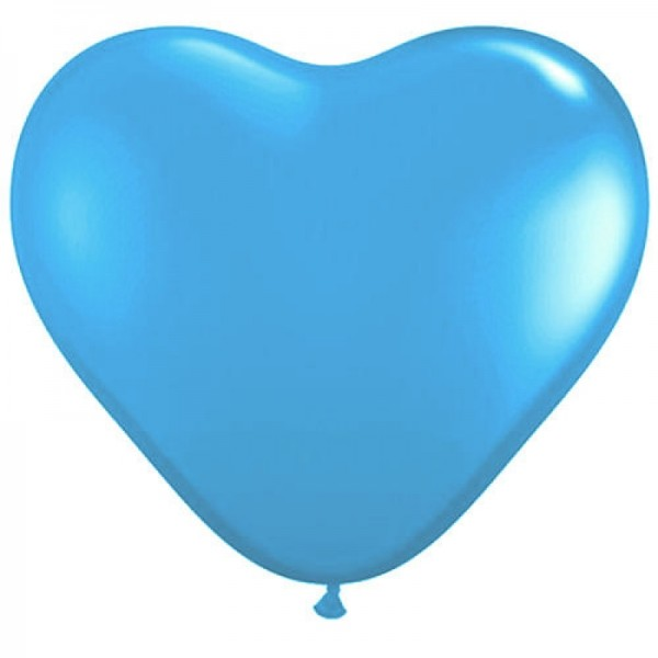 Latex BallonHerz hellblau (pale blue) - 27,5cm