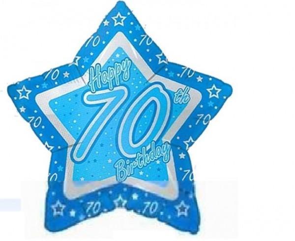 70.Geburtstag Stern Folienballon - 53cm