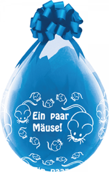 "Verpackungsballons Ein paar Mäuse 45cm 18"" Qualatex Stuffer"