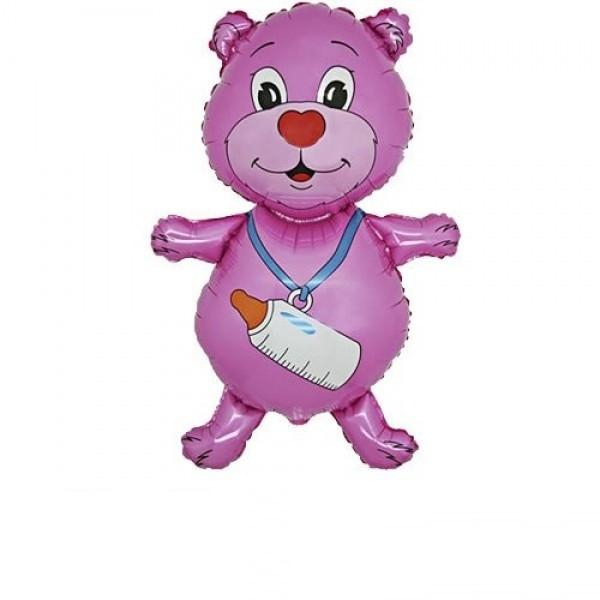 Mini Bär Ballon Mädchen - 35cm