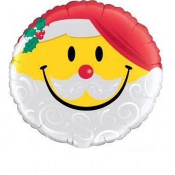 Smiley als Weihnachtsmann Folienballon - 45cm