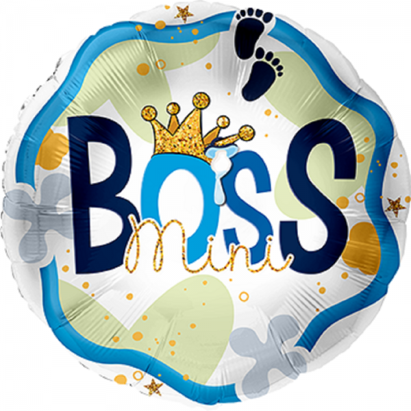 """Mini Boss Folienballon 43cm 17"""""""