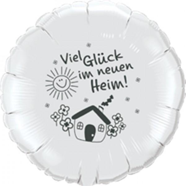 Viel Glück im neuen Heim Folienballon