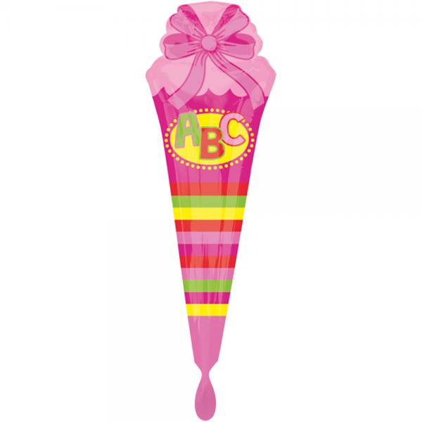 """Schultüte Pink Folienballon - 111cm 43"""""""