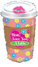 Kaffeebecher Love you Mom - 71cm