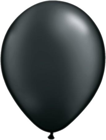Latex Luftballons Pearl Onyx Black (Schwarz) 100 St. - 27,5 cm