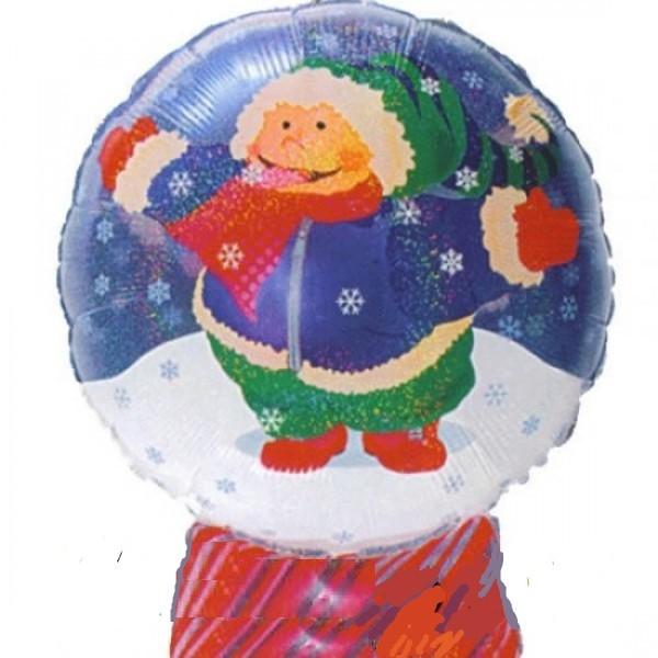 Kind in Schneekugel Folienballon - 66cm