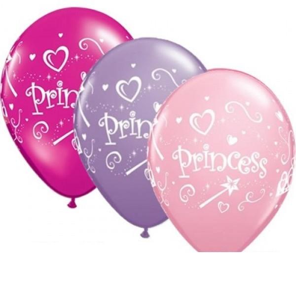 "Qualatex Prinzessin Mix Princess 27,5cm 11"" Latex Luftballons"