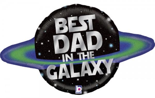 "Best Dad in the Galaxy Folienballon - 79cm 31"""