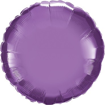 Folienballon Rund Chrome Purple (lila) - 45 cm