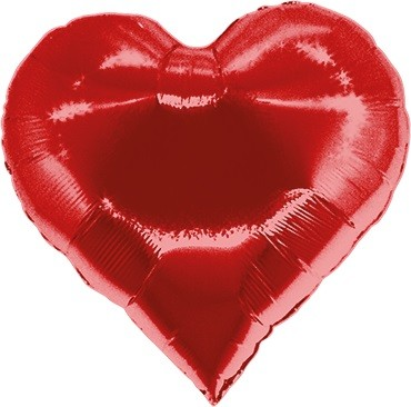 Casino Heart Red Folienballon - 76cm