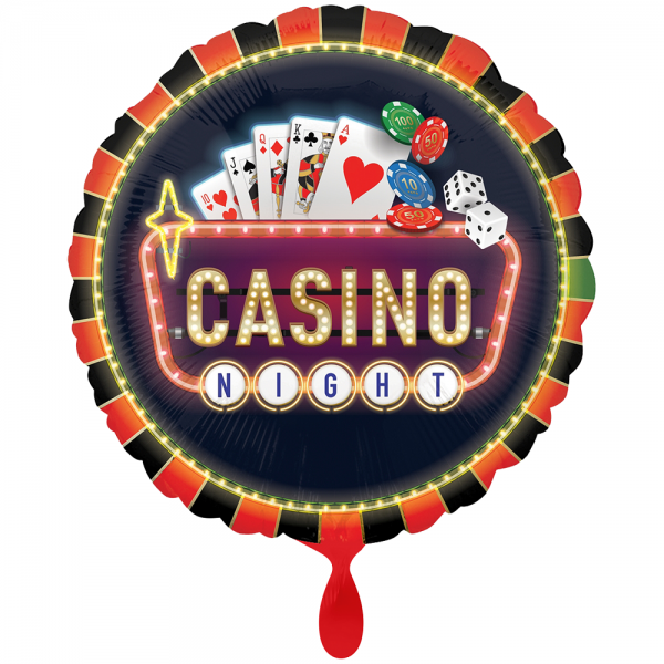 Roll the Dice Casino Poker Glücksspiel Folienballon - 71cm 28''