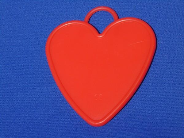 Luftballon Gewicht Herz-förmig groß in rot