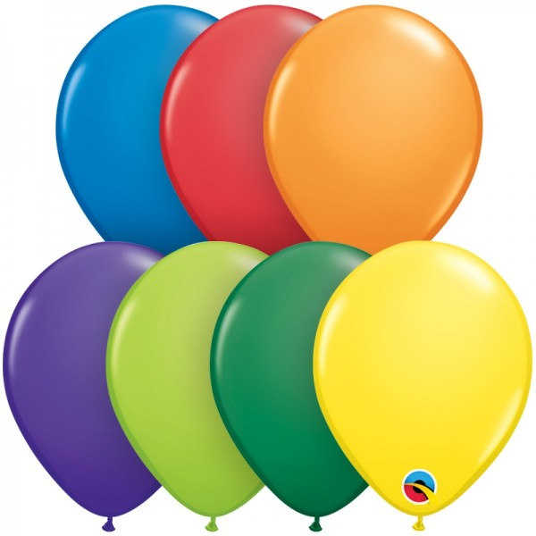 "Qualatex Assortment Carnival bunte Mischung 12,5cm 5"" Latex Luftballons"