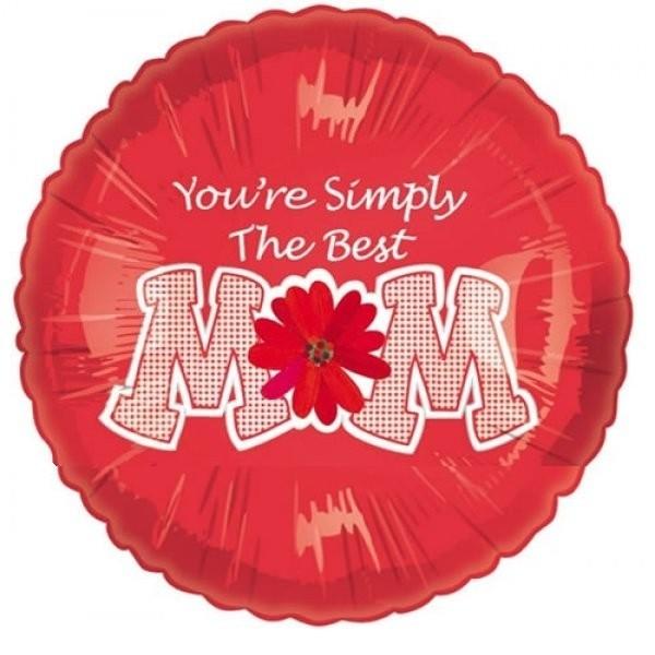 Mom Simply the Best Folienballon - 45cm