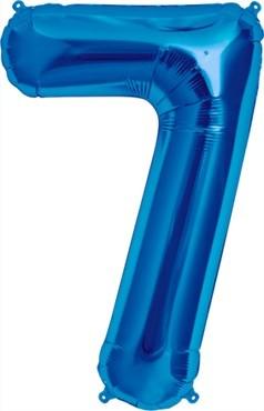 North Star Folienballon Zahl 7 (blau) - 86cm
