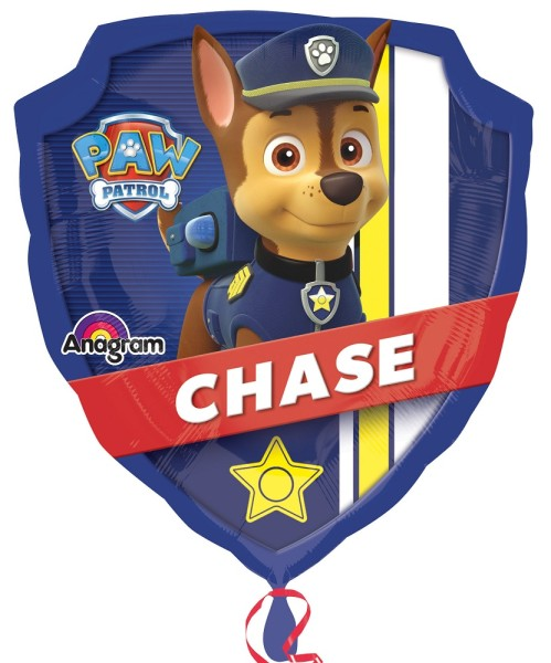 Paw Patrol Chase Marshall Schild Folienballon - 76 x 86cm