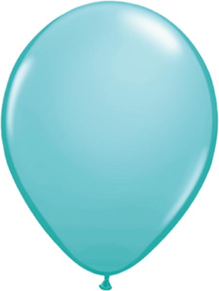 """Qualatex Fashion Caribbean Blue (Blau) 40cm 16"""" Latex Luftballons"""
