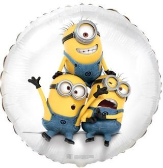Minion Party Bob, Kevin, Stuart Folienballon - 45cm