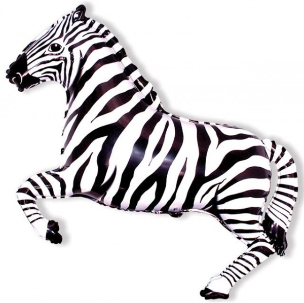 Mini Folienballon Zebra - 35cm