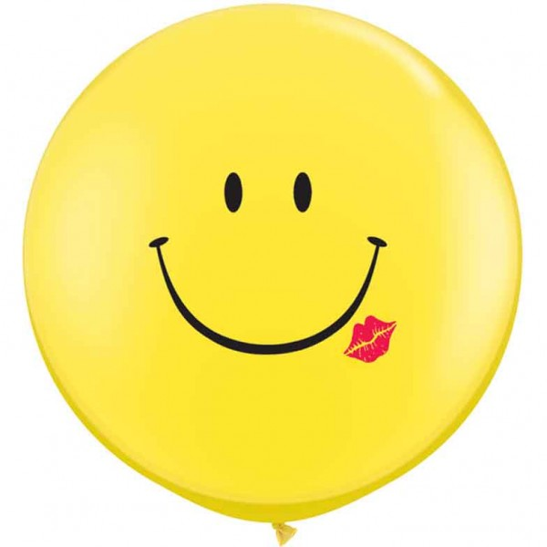 Riesenluftballon Smiley mit Kuss (Smile and kiss) 90cm